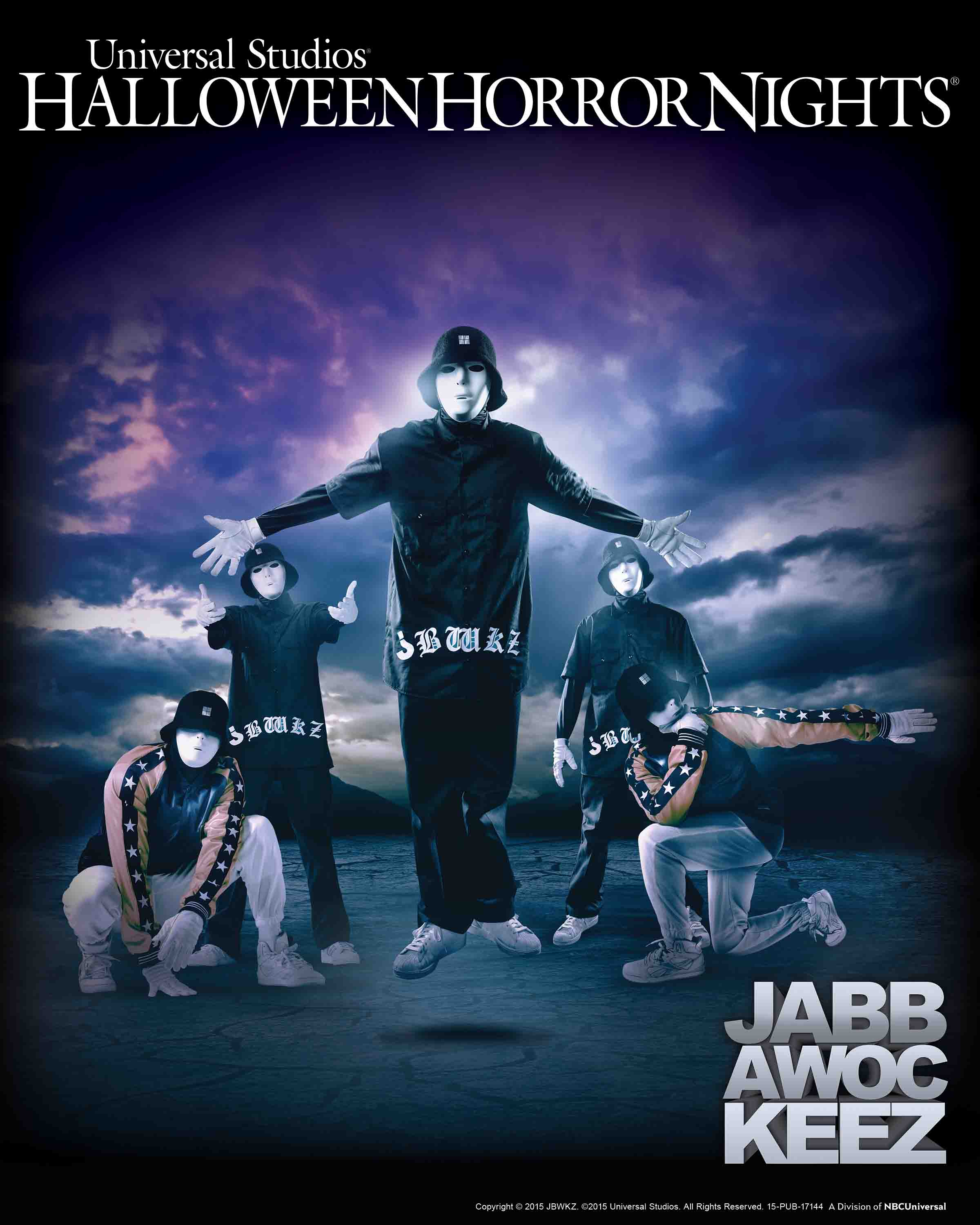 jabbawockeez at hhn 2015 - Universal Halloween Night