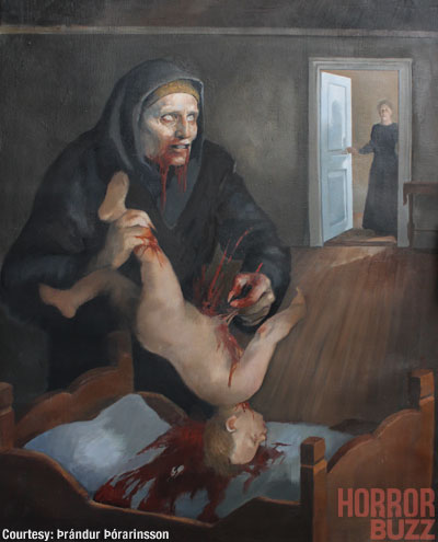 The painting of Gryla by Þrándur Þórarinsson, 2009.