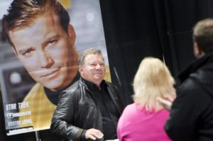 William Shatner makes an appearance during Pac Con Spokane on Friday, Oct. 24, 2014, at the Spokane Convention Center in Spokane, Wash. TYLER TJOMSLAND tylert@spokesman.com