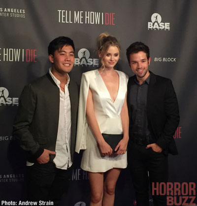 nathan kress tell me how i die. nathan kress, virginia gardner, ryan higa, mark furze, and ethan peck star in the new thriller directed by d.j. viola. they portray a group college kress tell me how i die