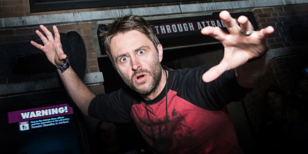 Chris Hardwick Tours The Walking Dead Attraction at Universal Studios Hollywood