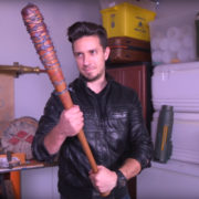 AWE me's DIY Prop Shop Makes Negan's Bat…with a Sweet HorrorBuzz Reference